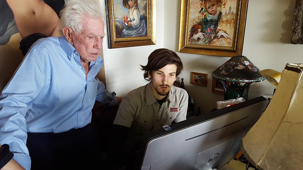 Leonard Linkow e Massimiliano Tramonte al computer